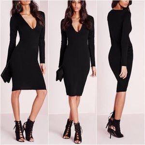 Midi plunge dress